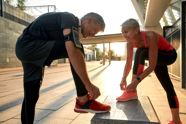 Couple runners